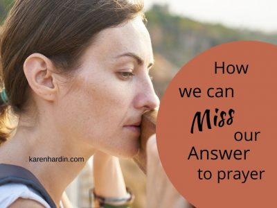 Miss our Answer to Prayer