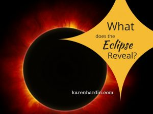 What does the eclipse reveal?