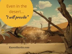 "Even in the desert, ""I will provide. """