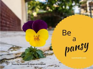 Be a pansy